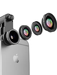 Lentes de câmeras de smartphone com vison flash 0.65x grande angular 10x lente de olho de peixe de macro para ipod iphone huawei xiaomi