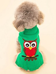 cheap -Cat Dog Coat Sweater Christmas Dog Clothes Animal Red Green Spandex Cotton/Linen Blend Costume For Pets Party Casual/Daily Cosplay Keep