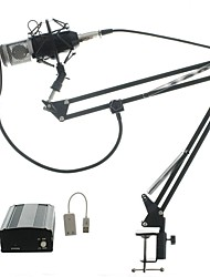 Audio Kit BM700 Microphone Recording Studio Microphone  with Windproof Window Filter  Arm Holder 48v Phantom Power