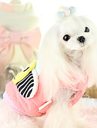 cheap -Dog Vest Puffer / Down Jacket Dog Clothes Cartoon Fuchsia Blue Cotton Down Costume For Pets Casual/Daily