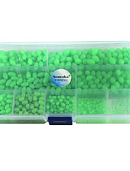 cheap -Anmuka 900Pcs Oval Mixed Size Luminous Fishing Beads Green Floating Plastic Fishing Beads with Fishing Tackle Box