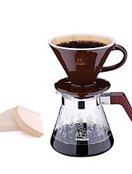 Kaffemaskin håndvask kaffekanne sett hjem 4pcs drop drop keramisk filter kopp cuttle pot del kombinasjon kit inngang kit