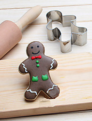 Chritsmas Gingerman Cookies Cutter Stainless Steel Biscuit Cake Mold Fondant Baking Tools