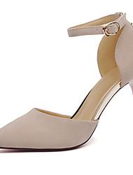 Women's Heels Gladiator Fall Winter Fur Casual Dress Party & Evening Stiletto Heel Black Beige 3in-3 3/4in