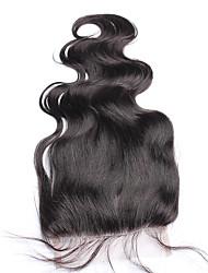 Недорогие -Freemiddle / три части монгольского тела волна закрытие кружева не-remy волосы 5x5 120% плотность натуральный цвет 10-18 дюймов