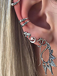 cheap -Women's Bohemian Elephant / Star / Number Stud Earrings - Vintage / Bohemian / Fashion Gold / Silver Earrings For Daily / Casual /