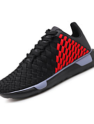 cheap -Men's Knit Spring / Fall Comfort Athletic Shoes Running Shoes Black / White / Black / Red