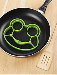 Недорогие -силиконовые лягушки яйцо жареное формы прессформы профилировщика Poucher блина кольцо инструмент кухни