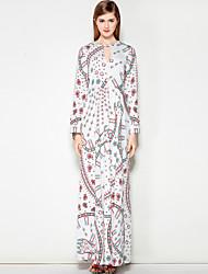 cheap -Mary Yan & Yu Women's Work Street chic A Line Dress - Floral Maxi