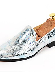 cheap -Men's Shoes Patent Leather Fall Winter Formal Shoes Loafers & Slip-Ons For Casual Party & Evening Gold Silver