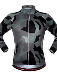 cheap -WOSAWE Cycling Jersey Unisex Long Sleeves Bike Jersey Top Quick Dry Breathability Stretchy Polyester Spandex Camouflage Spring/Fall