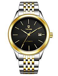 Недорогие -Муж. Модные часы Наручные часы Механические часы Китайский Механические, с ручным заводом Нержавеющая сталь Группа Черный Белый Золотистый