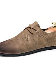 Masculino sapatos Borracha Primavera Outono Mocassim Oxfords Caminhada Para Preto Cinzento Marron