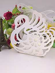 cheap -50pcs Swan Laser Cut Candy Box Wedding Favors And Gifts