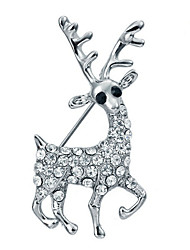 Women's Girls' Brooches AAA Cubic Zirconia Animal Design Gold Plated Jewelry For Wedding Party Ceremony Christmas
