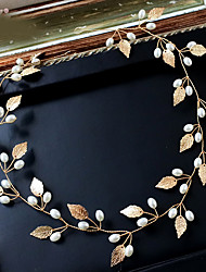 Imitation Pearl Alloy Headbands Head Chain Headpiece