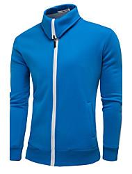 Sweatshirt Homme Grandes Tailles Sports Vacances Sortie Décontracté / Quotidien Grandes Tailles simple Actif Bohème Couleur Pleine