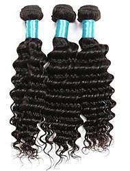 cheap -Brazilian Wavy Deep Wave Human Hair Weaves 3 Pieces 3 Pieces 0.3
