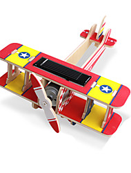 abordables -Jouets à Energie Solaire Puzzles 3D Puzzle Modèle en bois Kits de Maquette Jouet Educatif Avion 3D Solaire A Faire Soi-Même En bois Bois
