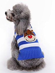cheap -Dog Coat Sweater Dog Clothes Reindeer Black Red Blue Acrylic Fibers Costume For Pets Men's Women's Party Casual/Daily Holiday Fashion