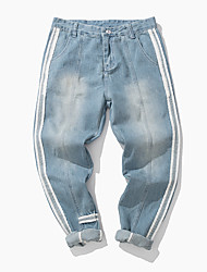 cheap -Men's Mid Rise Inelastic Harem Loose Jeans Pants,Casual Active Solid Spring Summer Fall