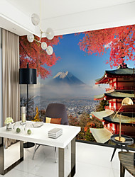 cheap -3D City View Classic Home Decoration Oriental Modern/Contemporary Wall Covering, Canvas Material Adhesive required Mural, Room