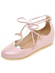 Women's Flats Driving Shoes Comfort Novelty Leatherette Fall Casual Party & Evening Dress Flat Heel Blushing Pink White Under 1in