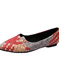 economico -Da donna Ballerine Comoda Estate PU (Poliuretano) Casual Più materiali Basso Rosso Blu 5 - 7 cm