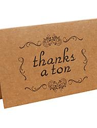 Kraft Thank You Cards-10 Piece/Set------Thank a ton