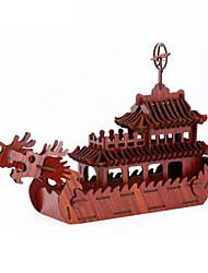 baratos -Quebra-Cabeças 3D Quebra-Cabeça Barco de Guerra Navio Faça Você Mesmo Madeira Madeira Natural Unisexo Dom