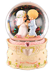 cheap -Balls Music Box Snow Globe Crystal Round Cartoon DIY Classic Women's Kid's Gift