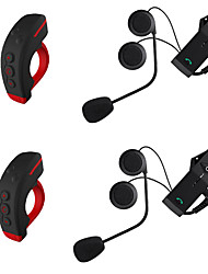 cheap -2Pcs Motorcycle V4.2 Bluetooth Headsets Ear hanging style Remote Control