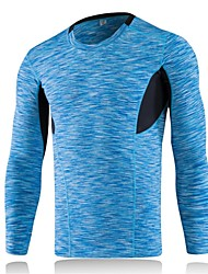 Men's Running T-Shirt Long Sleeves Breathability Lightweight Stretchy T-shirt Sweatshirt Top for Running/Jogging Cycling Exercise &