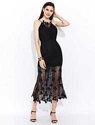 cheap -Women's Street chic Sheath Dress - Solid Colored