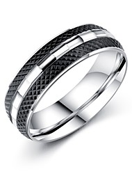 cheap -Men's Band Rings AAA Cubic Zirconia Basic Fashion Vintage Hip-Hop Gothic Classic Costume Jewelry Titanium Steel Circle Jewelry For Party