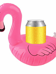 Inflatable Coasters Flamingos Aquatic Float Drink Cup Holder Tray Pool Party Supplies