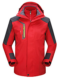 cheap -LEIBINDI Men's Hiking 3-in-1 Jackets Outdoor Winter Keep Warm Breathable Wearproof 3-in-1 Jacket Top Camping / Hiking Climbing Running