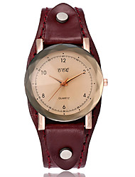 XU Women's Vintage Leather Belt Casual Bracelet Watch