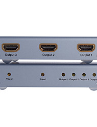 DTech HDMI 1.4 Splitter HDMI 1.4 to HDMI 1.4 Splitter Female - Female One Input Four Output
