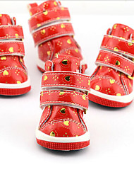 Dog Shoes & Boots Casual/Daily Waterproof Hearts For Pets