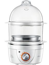 Eierkocher Doppel-Eierstöpsel Neuheiten für die Küche 220V Timing-Funktion Niedlich 3 in 1