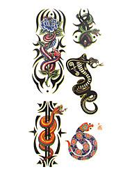 Недорогие -1 pcs Временные тату Временные татуировки Тату с животными Водонепроницаемый Искусство тела руки / рука / запястье