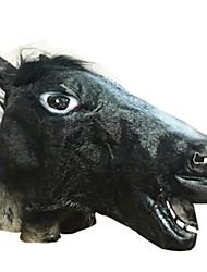 Недорогие -Маски на Хэллоуин Животная маска Игрушки Лошадь Ужасы Куски Универсальные Подарок