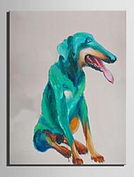 Pintados à mão Animal Vertical,Abstracto 1 Painel Tela Pintura a Óleo For Decoração para casa