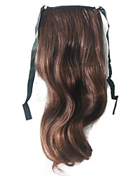 Clip Brown Mixed Color Synthetic Ponytail Long Curly Hair Piece Hair Extension
