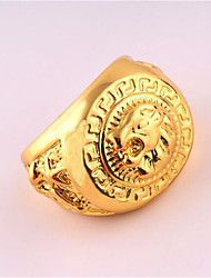 Men's Ring Unique Design Punk Costume Jewelry Rose Gold Plated Alloy Jewelry For Birthday Business Gift Daily Office & Career