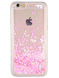 cheap -Case for Apple iPhone 7 Plus iPhone 7  Cover Flowing Liquid Back Cover Case Glitter Shine Hard PC iPhone 6s Plus iPhone 6 Plus iPhone 6