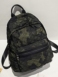 cheap -Women's Bags Oxford Cloth Backpack for Casual All Seasons Black Military Green Light Black