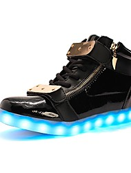 cheap -Women's Sneakers Light Up Shoes Light Soles Fall Winter TPU Casual Outdoor Party & Evening LED Low Heel Black White Under 1in