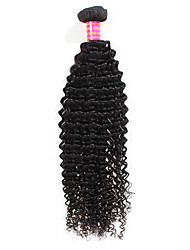 cheap -1 Bundle Peruvian Hair Curly / Kinky Curly Unprocessed Human Hair Human Hair Weaves Human Hair Extensions